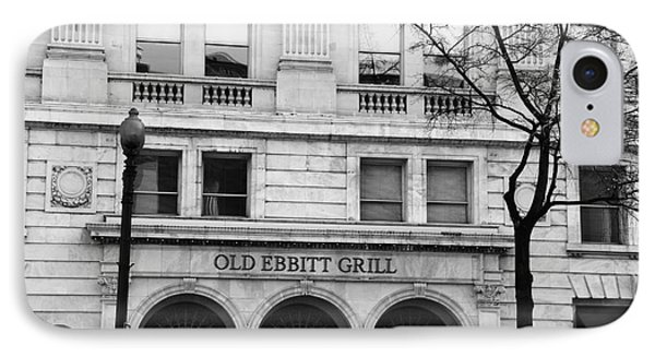 Old Ebbitt Grill Facade Black And White IPhone Case
