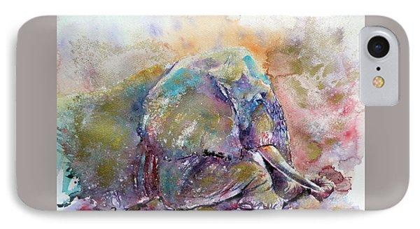Old Elephant IPhone Case by Kovacs Anna Brigitta