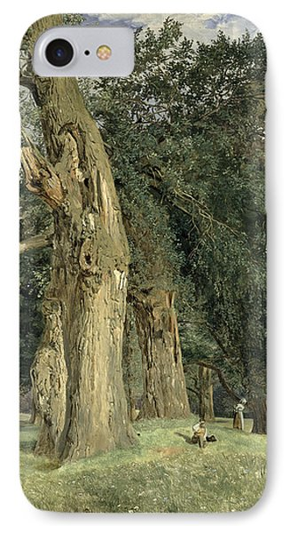 Old Elms In Prater IPhone Case by Ferdinand Georg Waldmuller