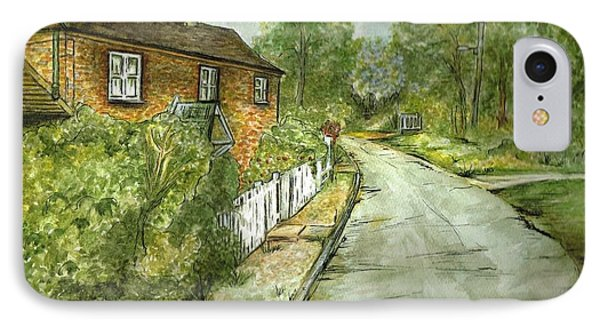 IPhone Case featuring the painting Old English Cottage by Teresa White