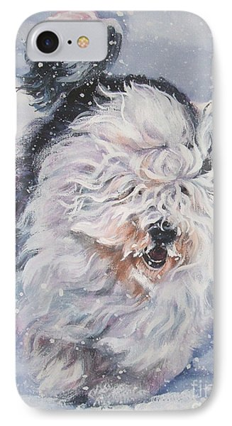 Old English Sheepdog  IPhone Case by Lee Ann Shepard
