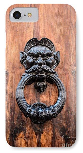 Old Face Door Knocker Phone Case by Edward Fielding
