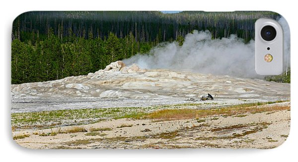 Old Faithful - An American Icon In Yellowstone National Park Wy Phone Case by Christine Till