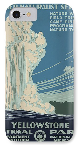 Old Faithful At Yellowstone IPhone Case by Unknown
