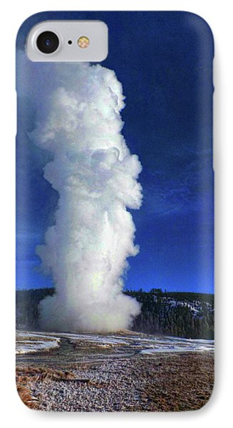 Old Faithful In Winter IPhone Case