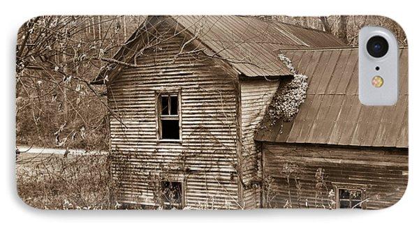 Old Farm House In Sepia 6 IPhone Case by Douglas Barnett