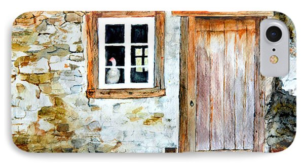 IPhone Case featuring the painting Old Farm House by Sher Nasser