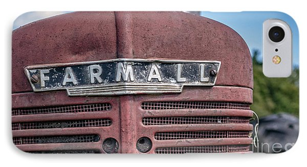 Old Farmall Tractor Grill And Nameplate IPhone Case by Edward Fielding
