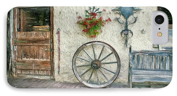 IPhone Case featuring the photograph Old Farmhouse by Jutta Maria Pusl