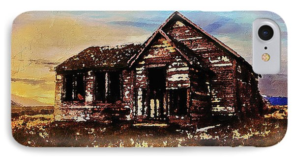 IPhone Case featuring the digital art Old Farmhouse by PixBreak Art