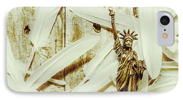 Old-fashioned Statue Of Liberty Monument IPhone Case
