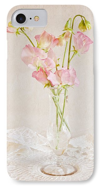 Old Fashioned Sweet Peas IPhone Case