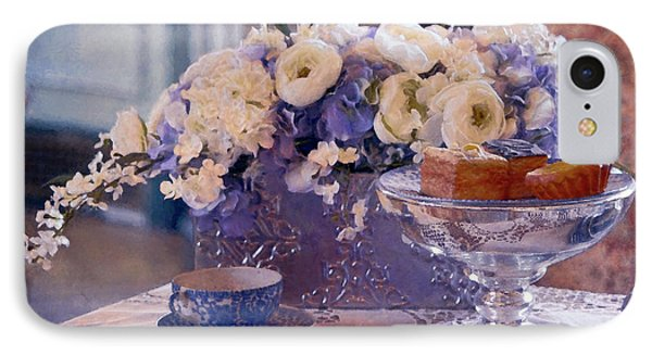 Old Fashioned Tea Party IPhone Case by Maria Angelica Maira