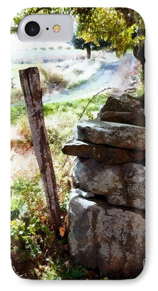 IPhone Case featuring the photograph Old Fence Post Orchard by Janine Riley