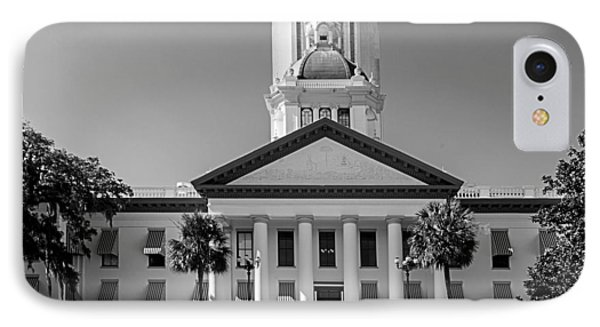 Old Florida Capitol In Black And White  Phone Case by Frank Feliciano