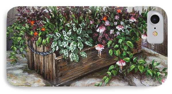 IPhone Case featuring the painting Old Flower Box by Kim Lockman
