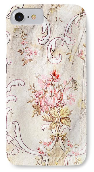 IPhone Case featuring the photograph Old Flowered Wallpaper by Sue Smith