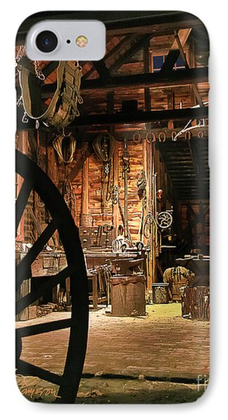 IPhone Case featuring the photograph Old Forge by Tom Cameron