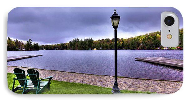Old Forge Waterfront IPhone Case by David Patterson