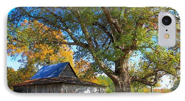 Old Friends Rustic Barn Majestic Oak Tree Art IPhone Case