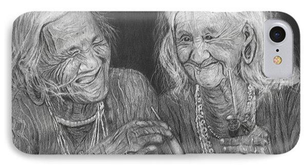 Old Friends, Smokin' And Jokin' IPhone Case by Quwatha Valentine