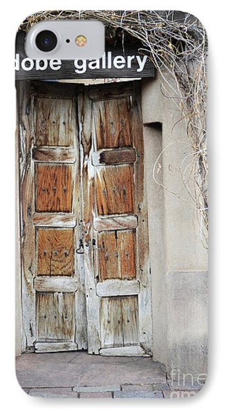 IPhone Case featuring the photograph Old Gallery Door by Andrea Hazel Ihlefeld