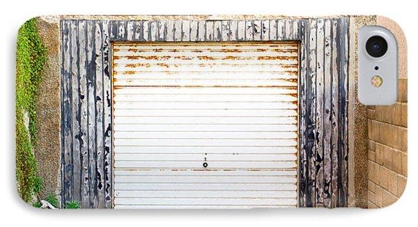 Old Garage Door IPhone Case by Tom Gowanlock
