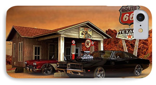 IPhone Case featuring the photograph Old Gas Station American Muscle by Louis Ferreira