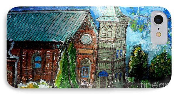 Old German Church In New Melle Missouri IPhone Case by Genevieve Esson