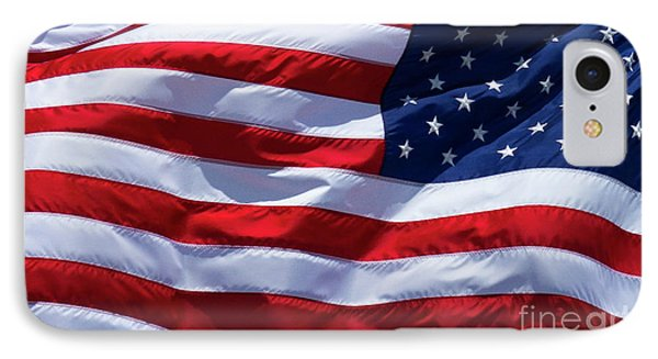 IPhone Case featuring the photograph Stitches Old Glory American Flag Art by Reid Callaway