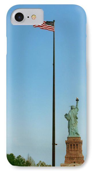 Old Glory And Lady Liberty IPhone Case