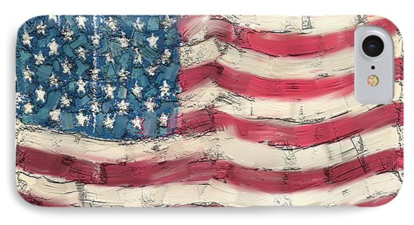 IPhone Case featuring the painting Old Glory by Carrie Joy Byrnes