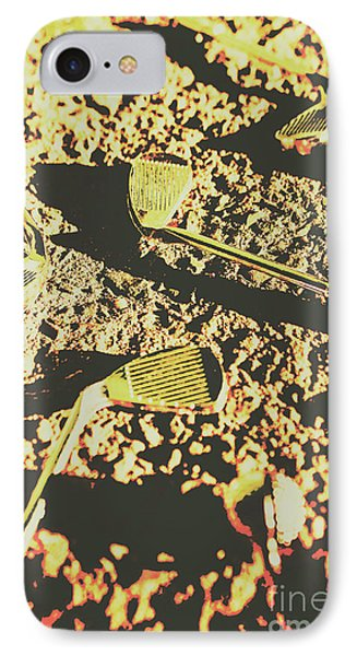 Old Golfing Games IPhone Case