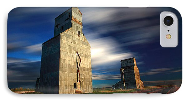 Old Grain Elevators IPhone Case by Todd Klassy
