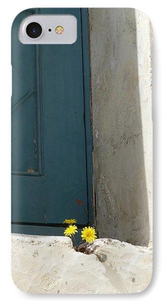 Old Greek Door IPhone Case by Valerie Ornstein
