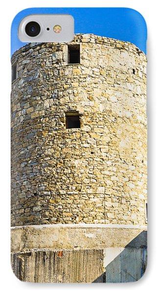 Old Greek Windmill IPhone Case by Tom Gowanlock