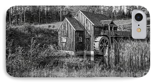 Old Grist Mill In Vermont Black And White IPhone Case