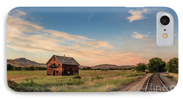 Old Homestead And The Train Tracks IPhone Case