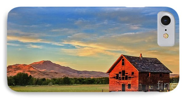 Old Homestead With Squaw Butte IPhone Case