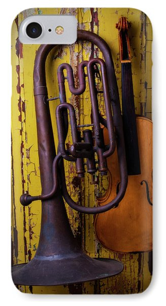 Old Horn And Violin IPhone Case by Garry Gay