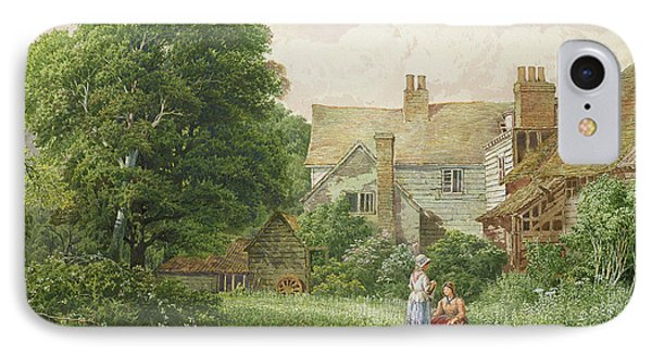 Old House At Hendon  IPhone Case by Bernard Walter Evans
