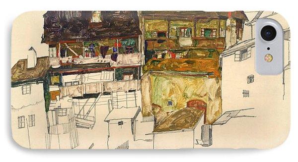 Old Houses In Krumau IPhone Case by Egon Schiele
