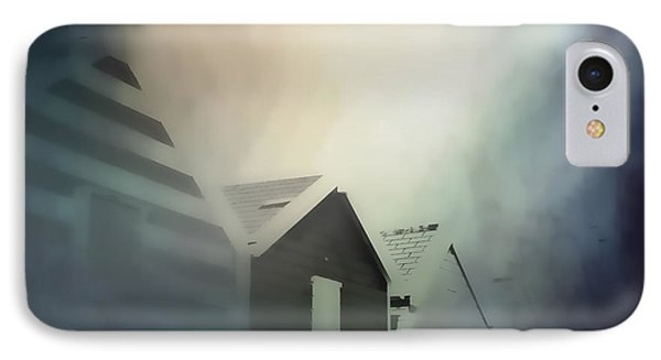 Old Huts In The Mist - Digital Watercolour IPhone Case by Tom Gowanlock