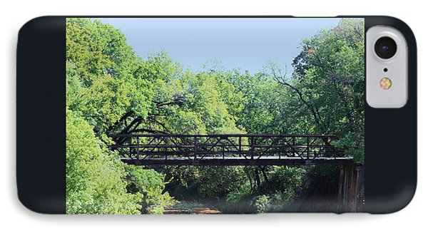 IPhone Case featuring the photograph Old Iron Bridge Over Caddo Creek by Sheila Brown