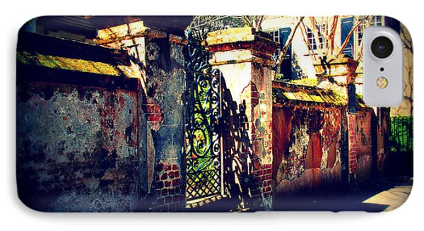 Old Iron Gate In Charleston Sc Phone Case by Susanne Van Hulst