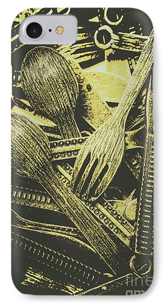 Old Knives Forks And Spoons IPhone Case by Jorgo Photography - Wall Art Gallery