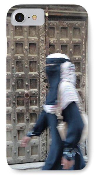 Old Lamu Town Muslim Woman Walking IPhone Case by Exploramum Exploramum