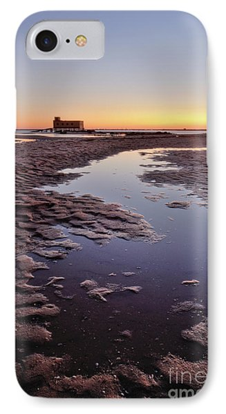 Old Lifesavers Building At Twilight Phone Case by Angelo DeVal