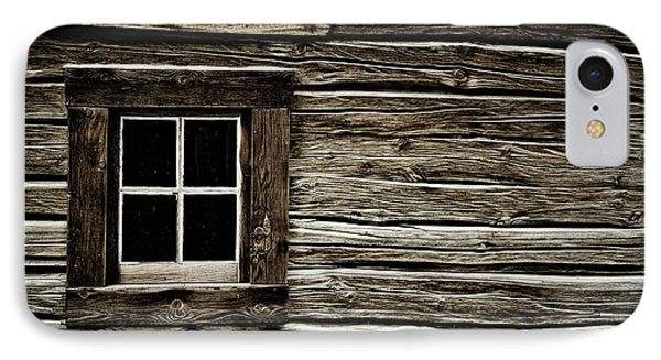 IPhone Case featuring the photograph Old Log Cabin by Brad Allen Fine Art