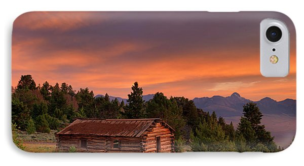 Old Log Cabin IPhone Case by Leland D Howard